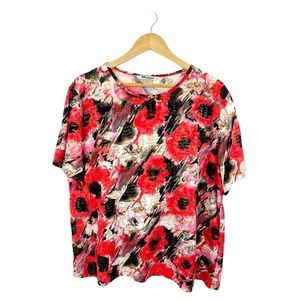 Nygård Collection Handwritten Printed Floral Top